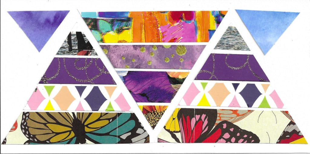 Many triangles collage art
