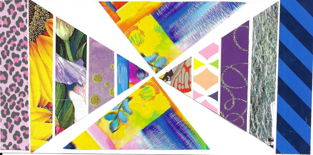 Spiral triangles collage art