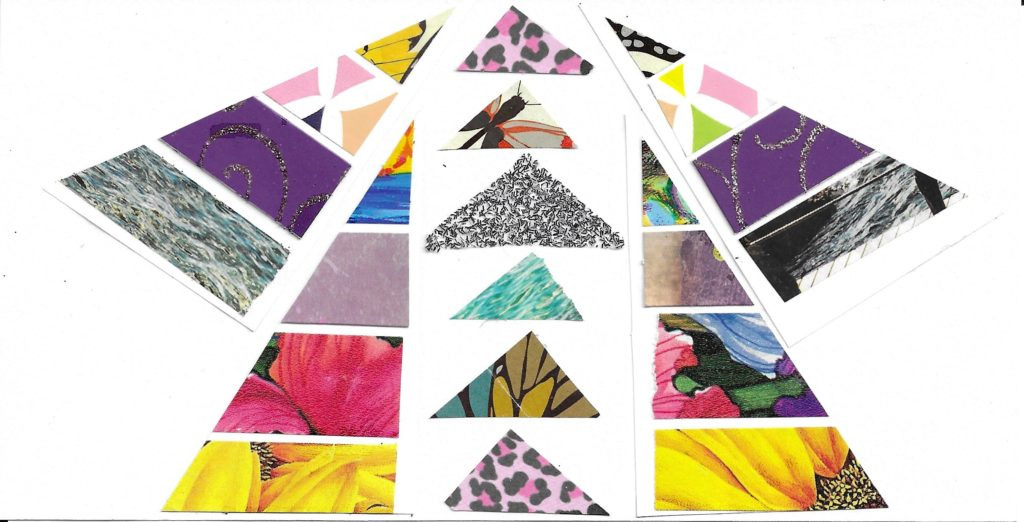 Triangles collage art